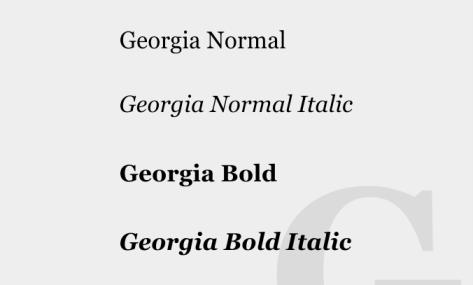 georgia fonts
