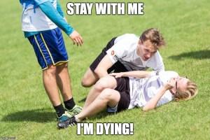 ultimate frisbee injury meme