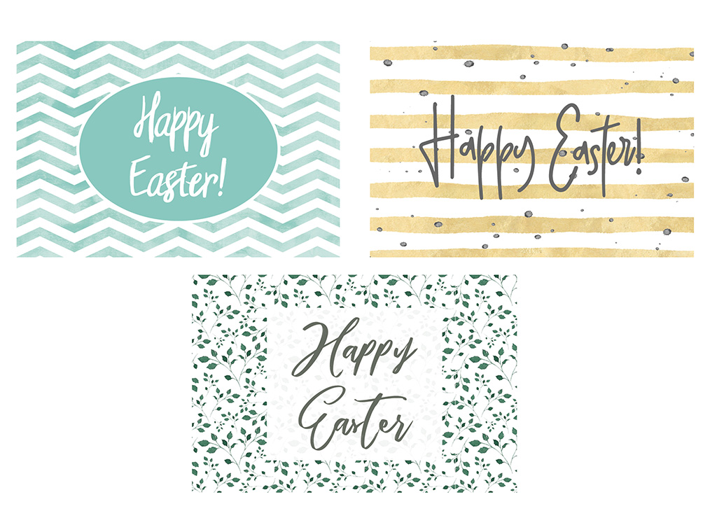 image about Printable Easter Cards named Totally free Printable Easter Playing cards Introvert Ink Studio