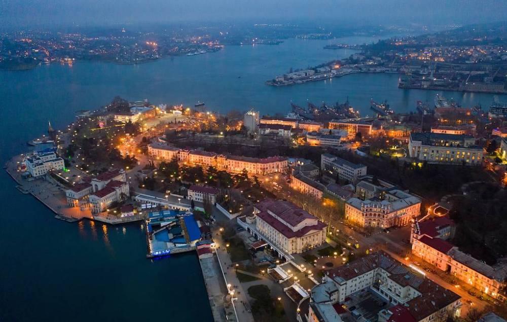 Sevastopol by night, Crimea, Depositphotos