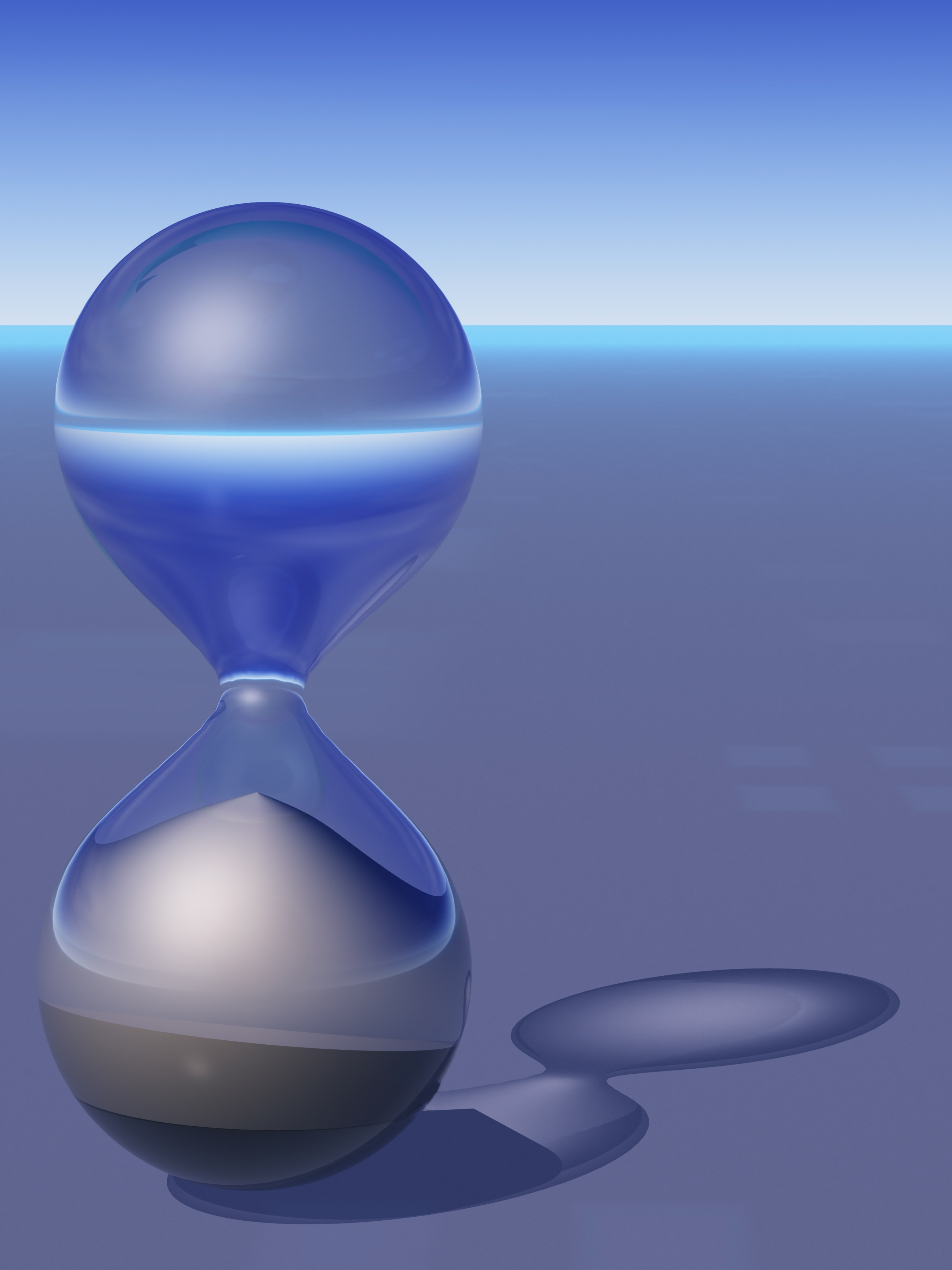 Abstract 3D Hourglass