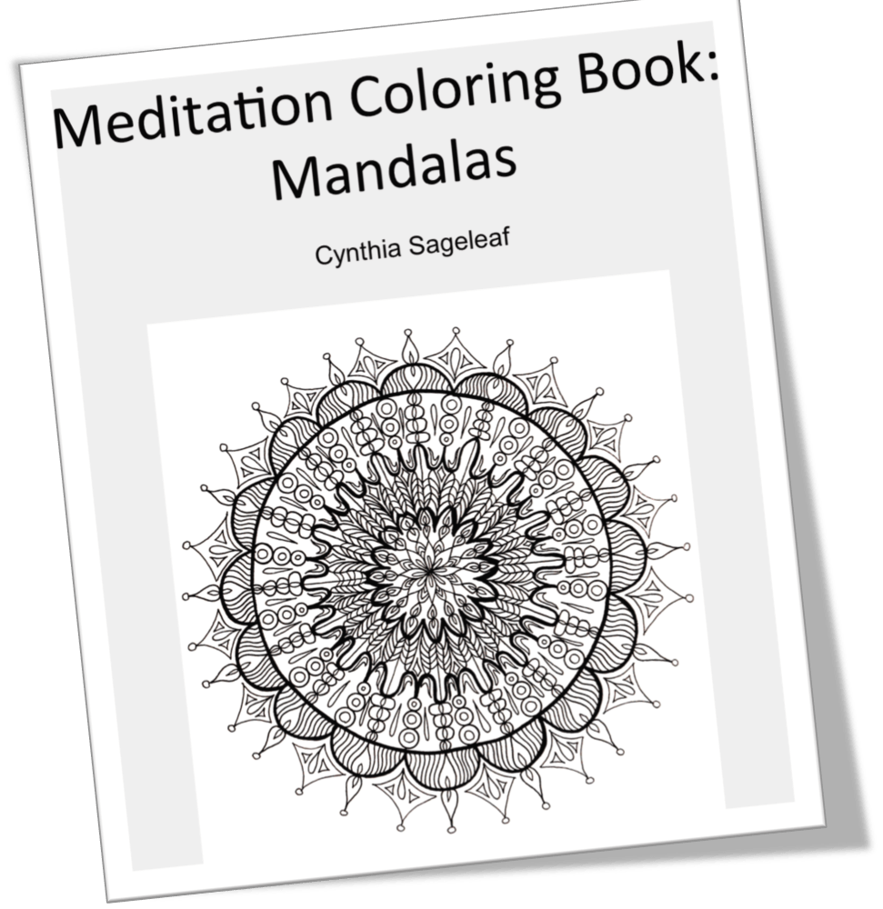 Coloring Meditation with Free Coloring Pages