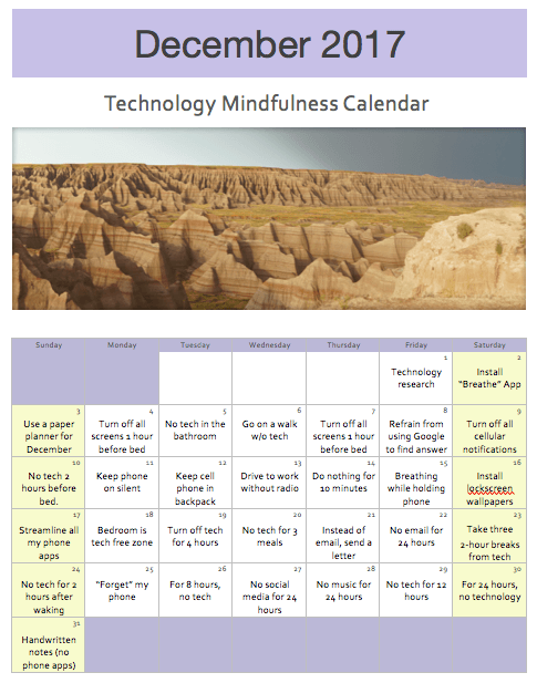 tech mindfulness ideas