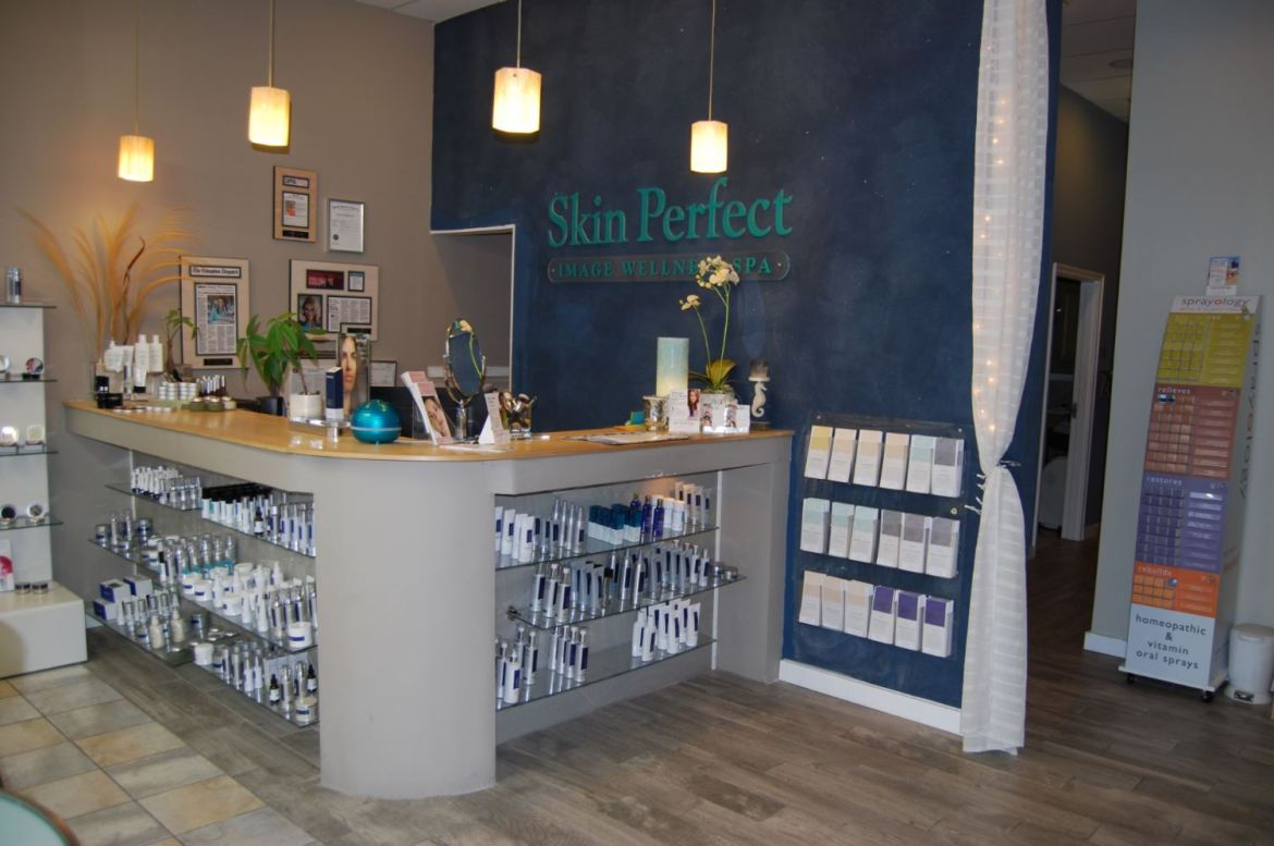 Skin Perfect Spa Product Counter After