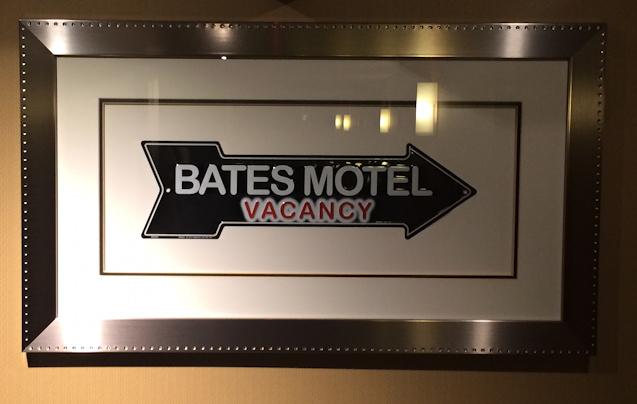 bates motel sign, the curtis hotel