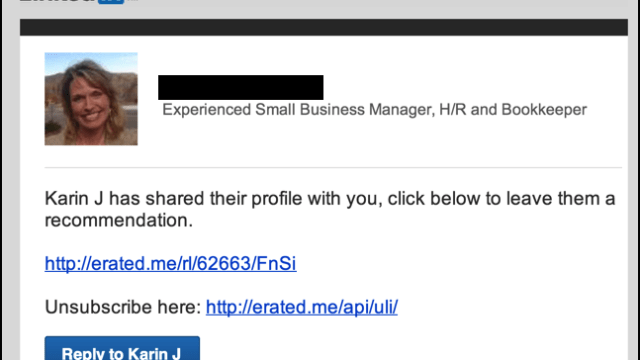 linkedin endorsement request