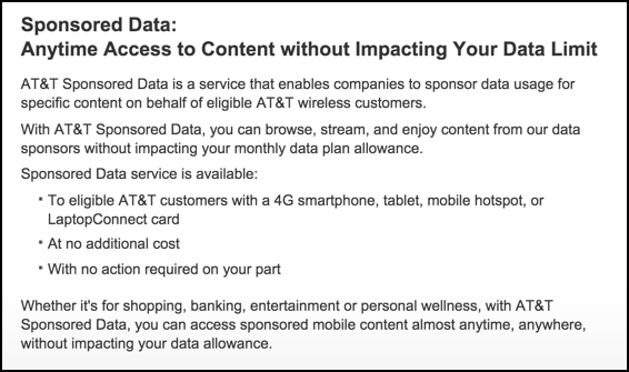 att wireless sponsored data help