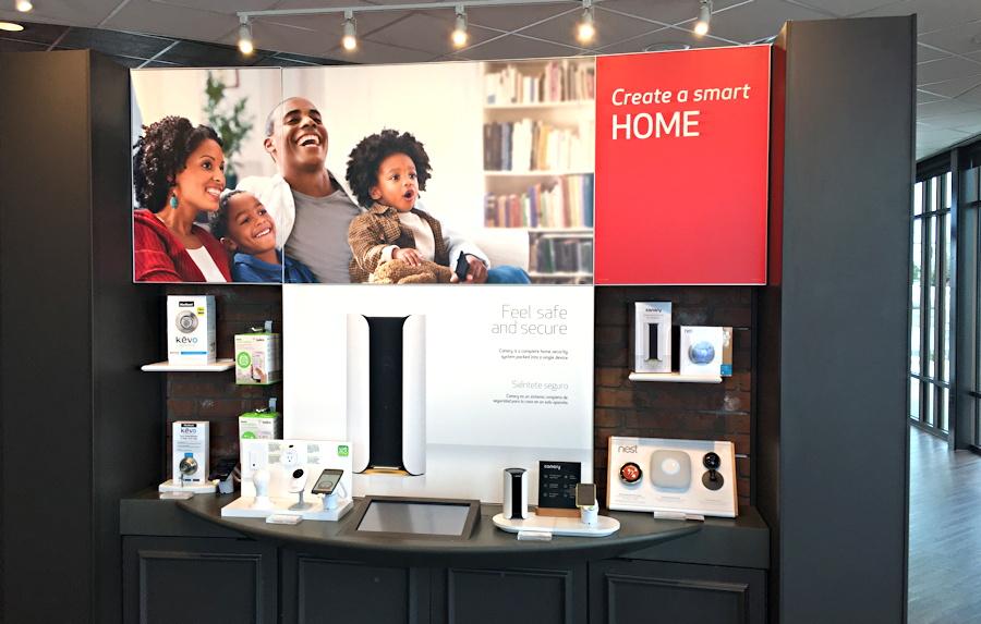 verizon store smart home zone display, longmont co