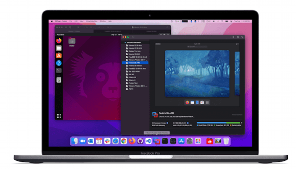 vmware fusion on apple mac m1