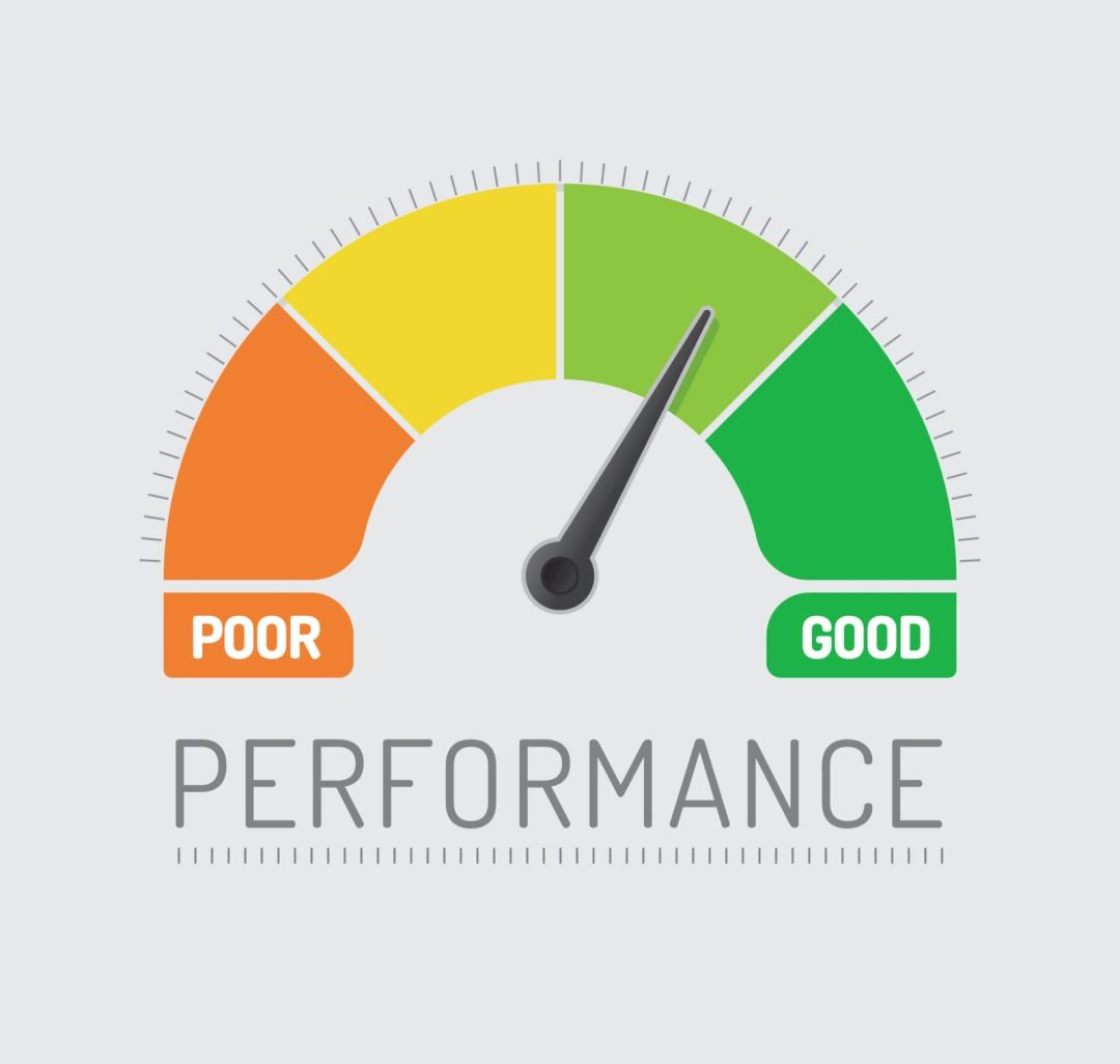 poor performance vs. good performance