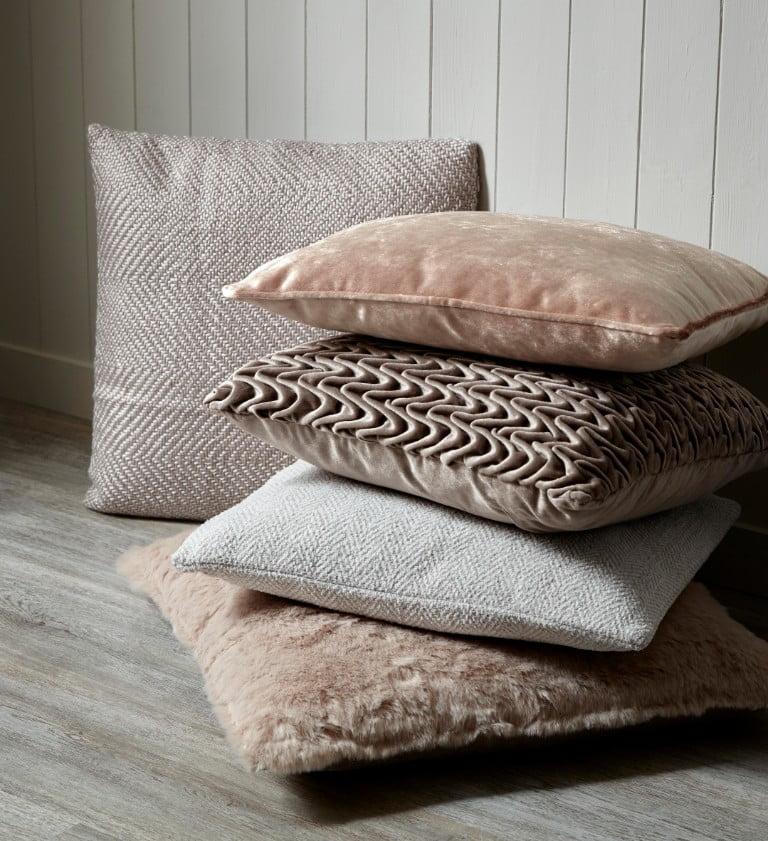 B&Q neutral and pink cushions AW17