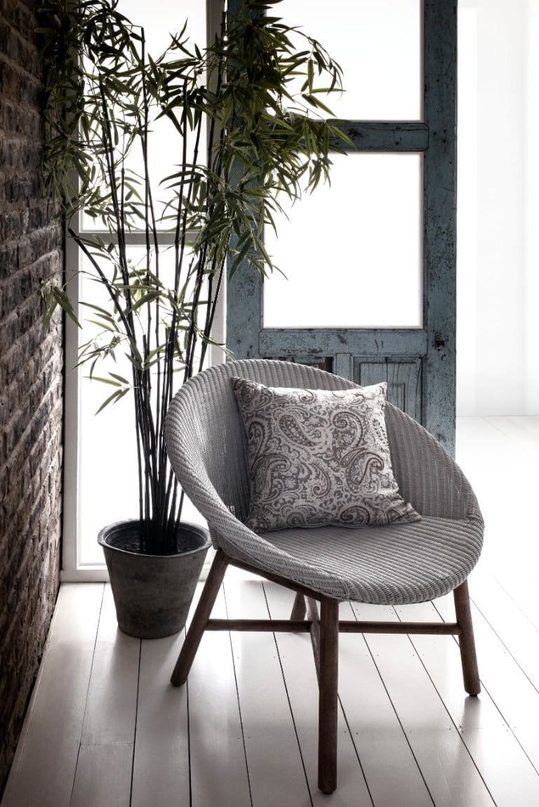 House of Fraser Palm bucket chair grey