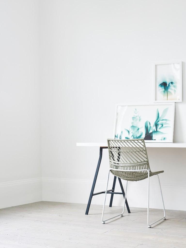 Oliver Bonas Botanical Leave Print Wall Art On Desk