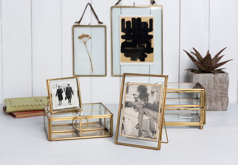 Gold Glass Photo Frames