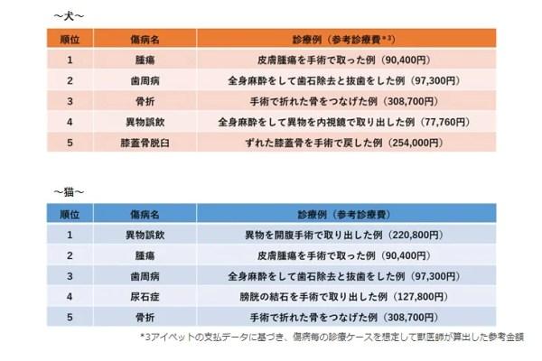 調査結果2 保険金請求が多い傷病のランキング 【手術編】