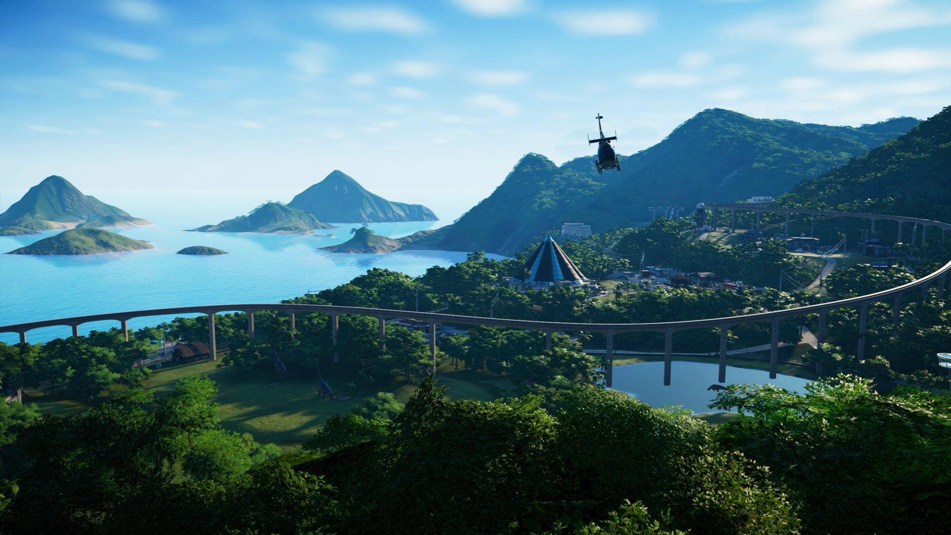 Park simulator monorail eiland isla Nublar