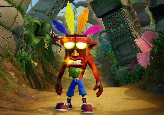 Crash Bandicoot mask trilogy jungle