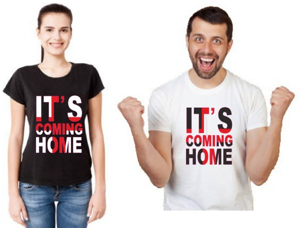 euro cup england football t-shirt its coming home