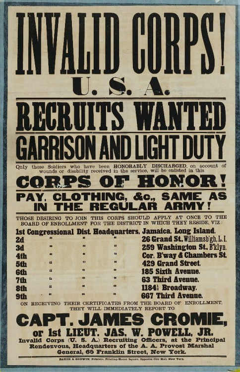 Invalid Corps Recruits Wanted Poster