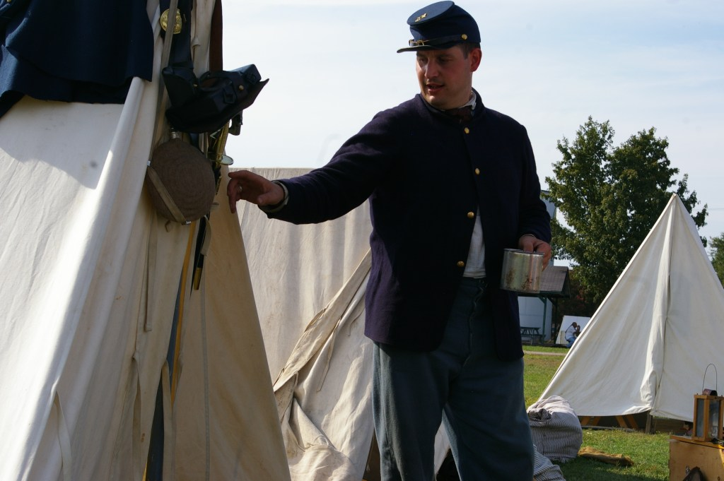 Union Soldier at Tent