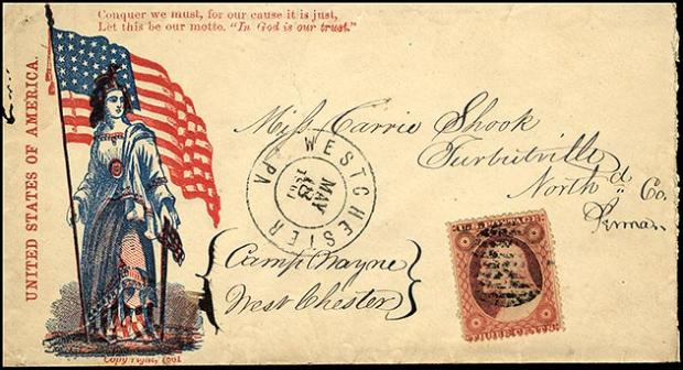 Patriotic Union Envelope