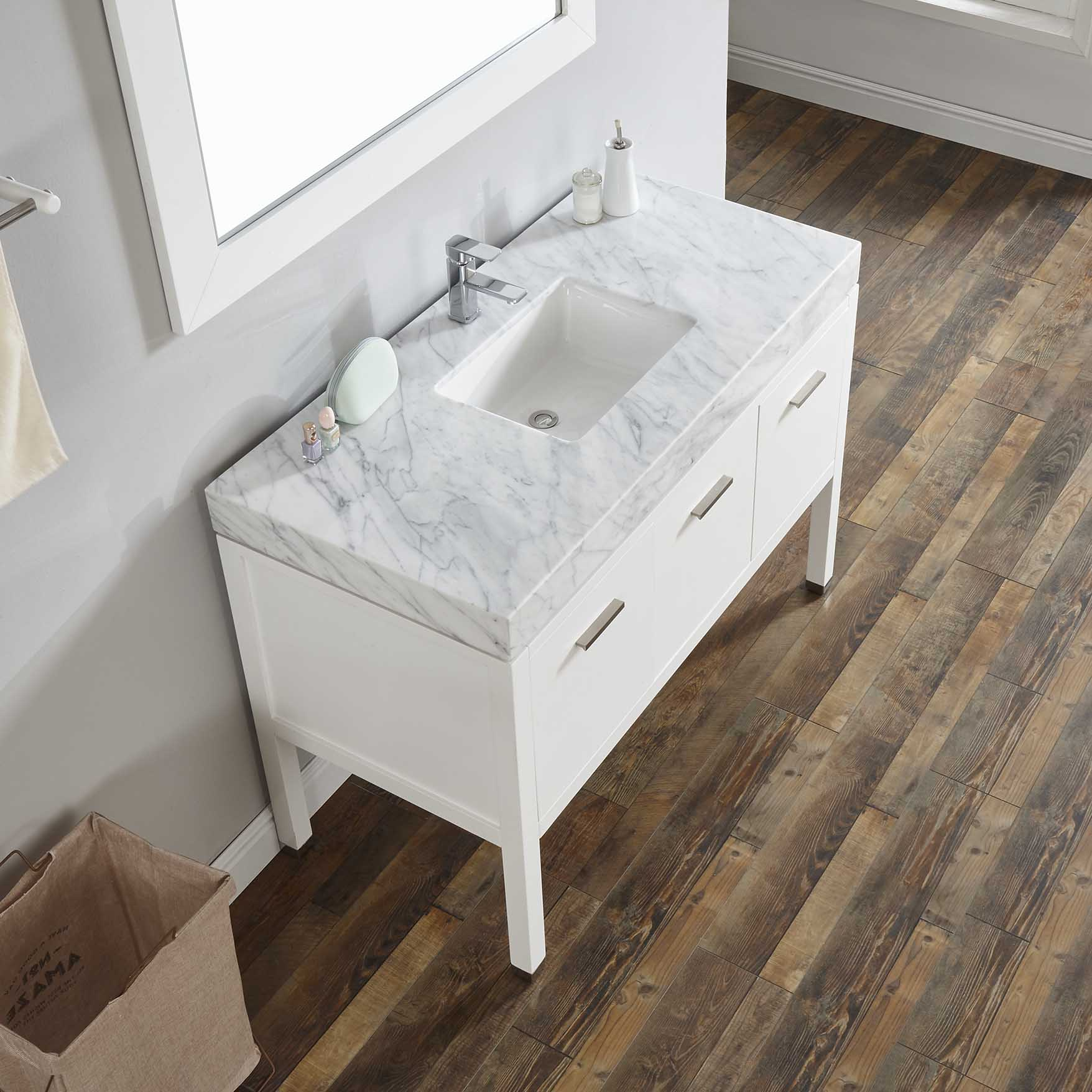 Newtown 48 Single Vanity With Wide Line Counter W48s 131e Invanity