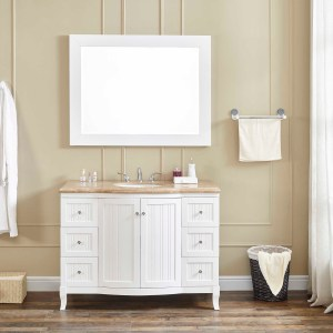 48 inch vanity san jacinto single sink vanity with travertine counter