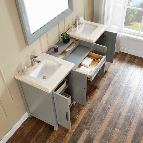 grey vanity double vanity cabinets calimesa white sink