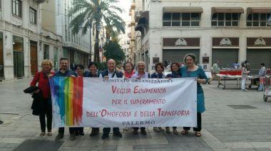 A PALERMO dalla Fiaccolata e veglia per il superamento dell'omotrasfobia del 17 maggio 2017