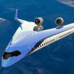 The Energy-Efficient V-Shaped Ride-in-the-Wings Jetliner Successfully Took Off