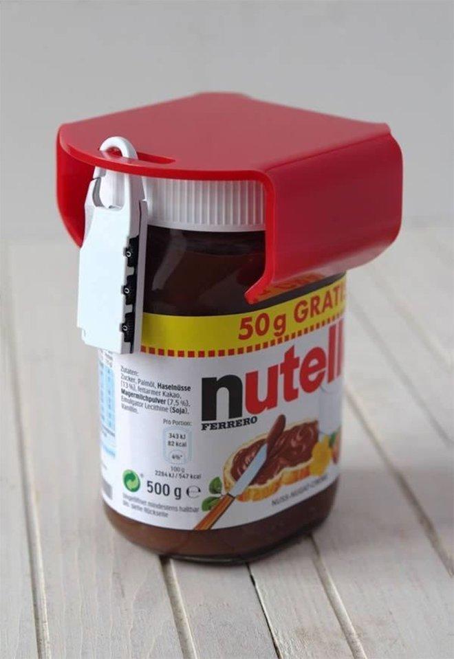 Le cadenas pour pot de Nutella