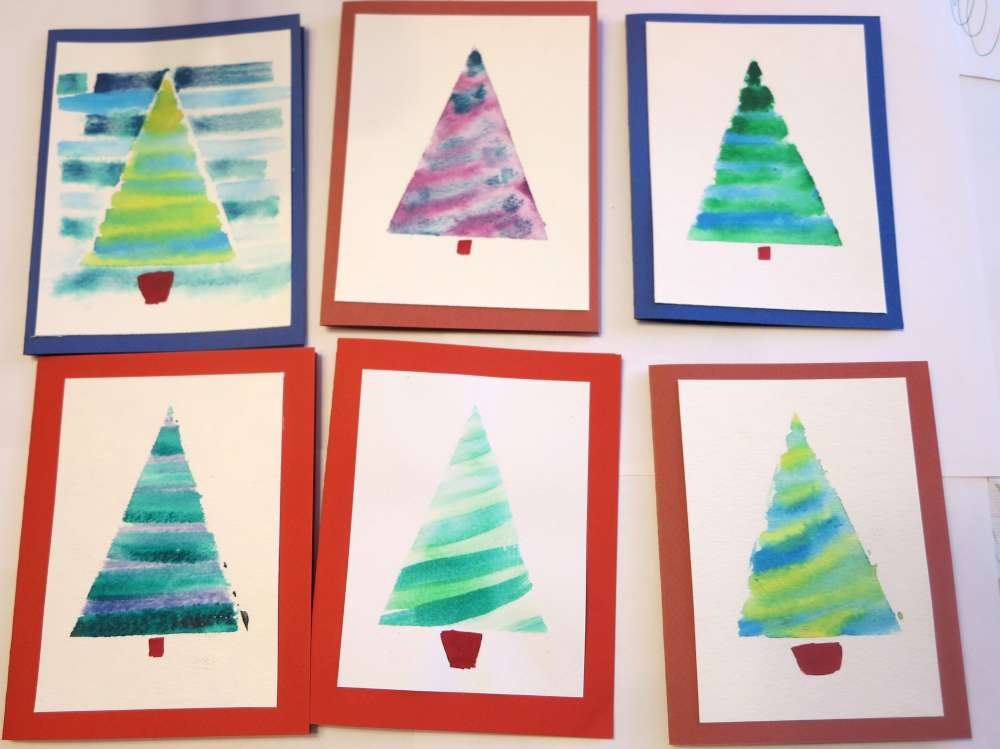InventorArtist Watercolor Christmas Cards