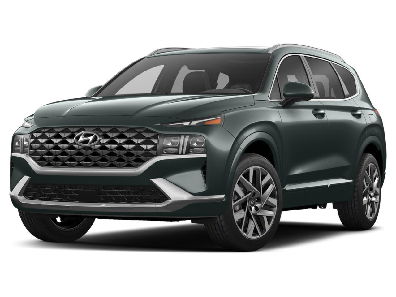 How does the hyundai santa fe compare to the jeep commander? 2021 Hyundai Santa Fe Limited AWD Hampton Gray Sport