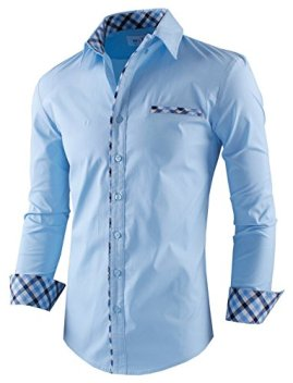 Image result for Tom's Ware Mens Premium Casual Inner Contrast Dress Shirt