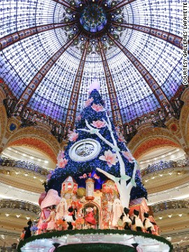 The world's largest in-store Christmas tree was designed by Swatch Batteries not included. Good luck getting it home