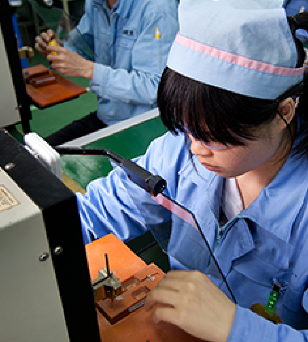 Assembly of well-designed power supply components.