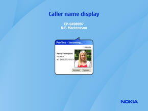 Caller name display