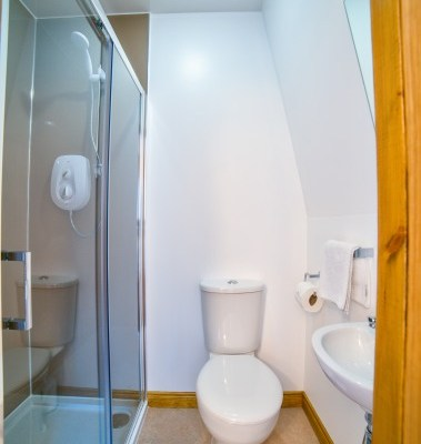 Typical ensuite facilities - this one is for a double room with double shower