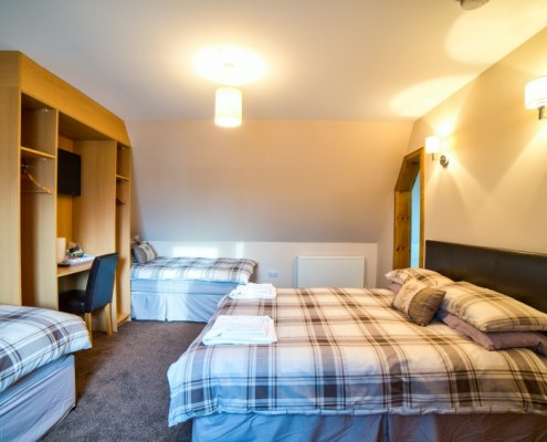 Family room for bed and breakfast with ensuite facilities