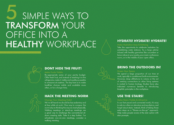 stay healthy at workplace