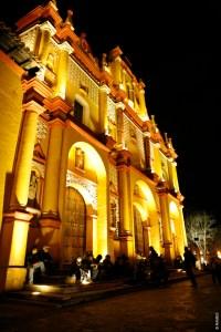 San Cristobal de Las Casas Catedral Nocturna