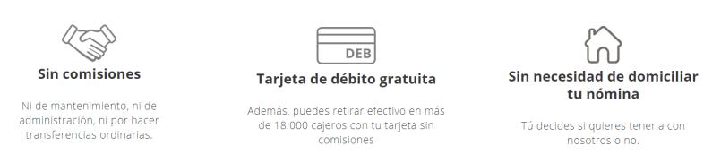 ventajas cuenta online sin liberbank