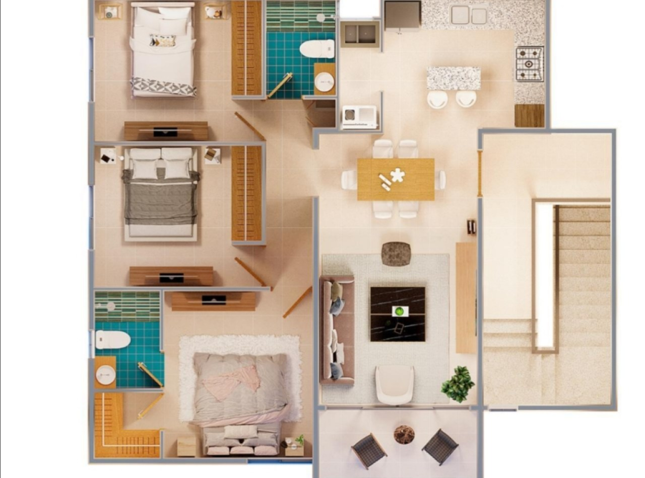 BAIA Residences Apartamentos en Urb. Jardines del Norte, Santiago