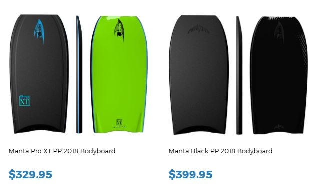 Manta Bodyboards for sale at Invetyed Bodyboard Shop