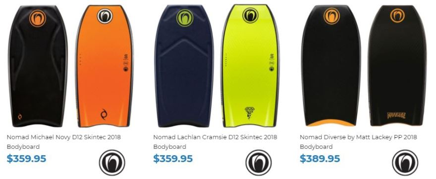 Nomad Bodyboards for sale at Inverted