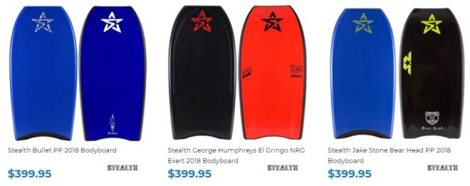 Stealth Bodyboards for sale at Inverted Bodyboard Shop George