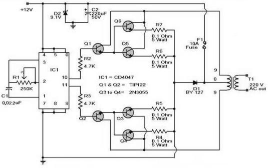 100w inverter circuit 12vdc to 220vac inverter circuit and products rh inverter circuit com 100w inverter circuit diagram with pcb layout 100w inverter circuit diagram