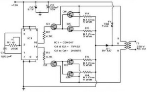 100W Inverter Circuit Diagram