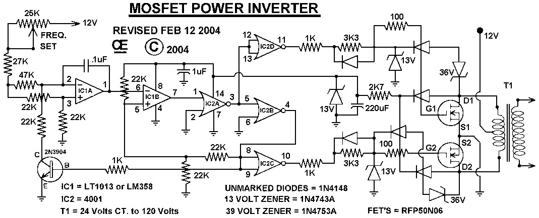 MOSFET Power Inverter 500W using RFP50N06  Inverter Circuit and Products