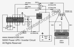 500W power inverter circuit TIP35C  Inverter Circuit and